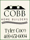 Cobb Home Builders, Crystal Beach Texas