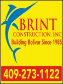 Brint Construction, Crystal Beach Texas